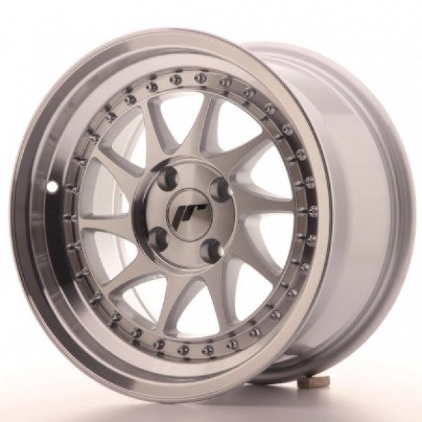JAPAN Racing JR26 15x8 ET5 4x100 Machined Sil