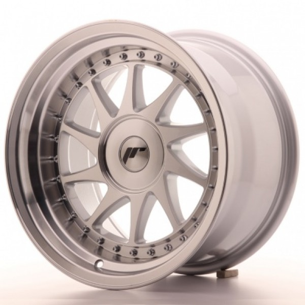 JAPAN Racing JR26 16x9 ET0-25 Blank Mach Silver