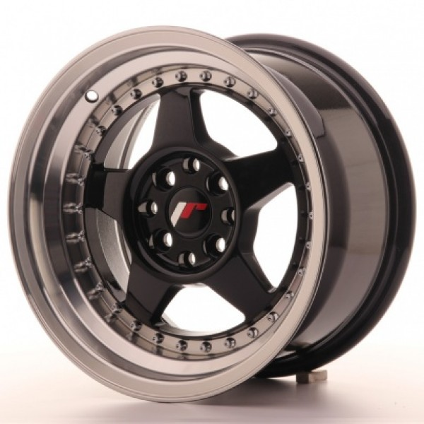 JAPAN RACING JR6 15X8 ET25 4X100/108 GLOSSY BLACK