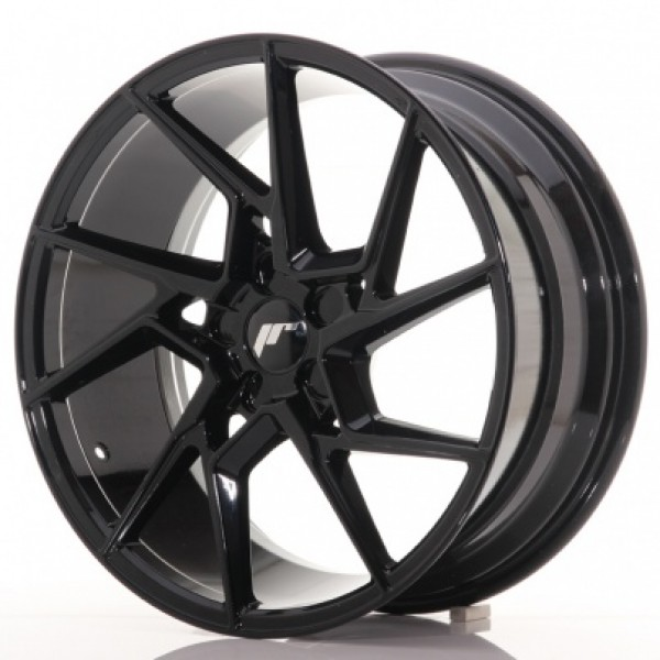 JAPAN Racing JR33 20x10 ET20-40 5H Blank Gloss Bla...