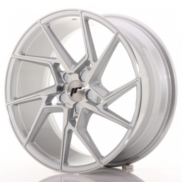 JAPAN Racing JR33 20x10 ET20-40 5H Blank Silver Ma...