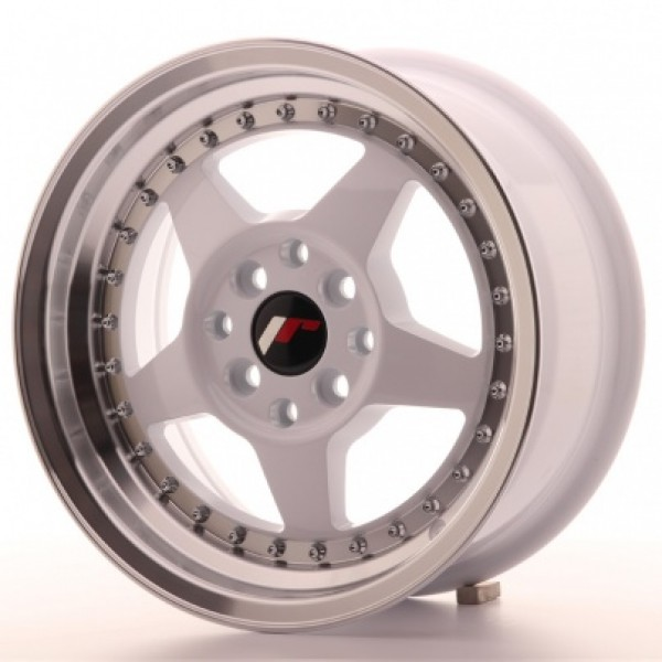 Japan Racing JR6 15x7 ET25 4x100/108 White